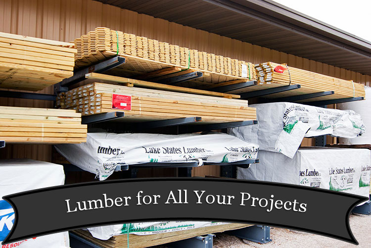 Lumber at Harbor Hardware in Door County, WI