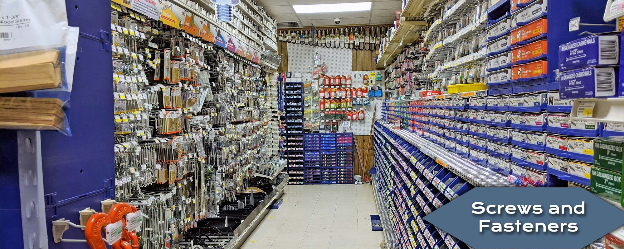 Shop and Buy Screws and Fasteners at Harbor Hardware Store in Door County, WI